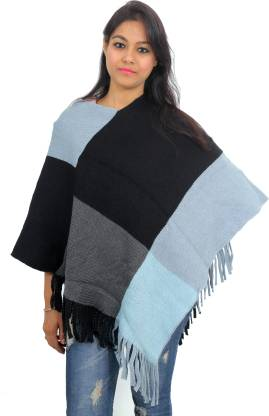 Wool Blend Poncho