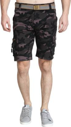 GUTI Printed Men Multicolor Cargo Shorts