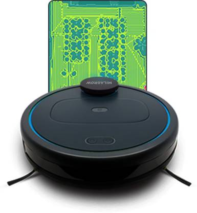 Milagrow iMAP IOT Live Mapping Independent Navigation, Wet and Dry Mop Robotic Floor Cleaner