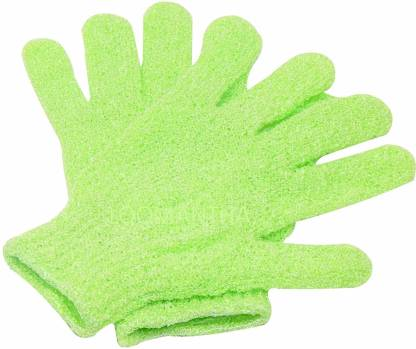 VEDANSHI Bath Glove Shower Skin Care Scrubber Massage Clean (Green)