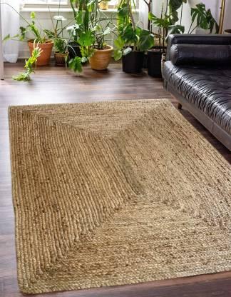 Chopra International Beige Jute Carpet