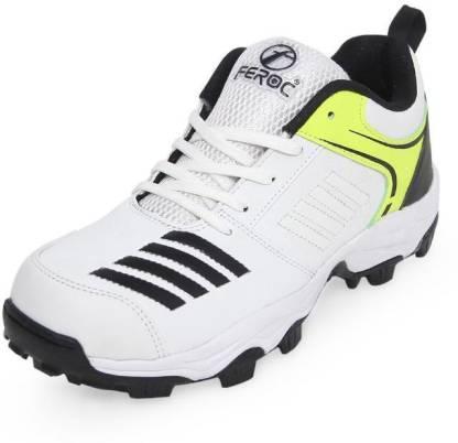 Feroc BlasterWHITE BLACK Cricket Shoes For Men