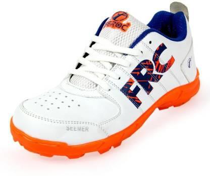 Feroc Seamar White ORANGE Cricket Shoes For Men