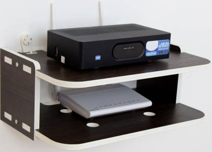 WORA TV Set-Top Box Rack Router Storage Organizer Living Room Projector Particle Board Wall Shelf