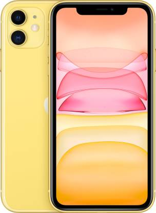 Apple iPhone 11 (Yellow, 64 GB) (Includes EarPods, Power Adapter)