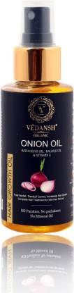 VEDANSH ORGANIC ONION OIL (WITH OLIVE OIL,KALONJI OIL & VITAMIN E) HAIR GROWTH OIL