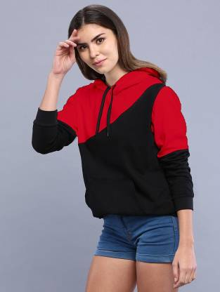 PRETTE Full Sleeve Color Block Women Sweatshirt