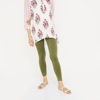 MELANGE by Lifestyle Legging(Dark Green, Solid)