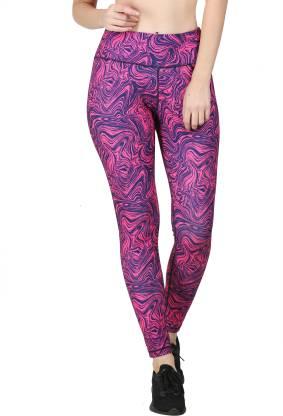 Zesteez Printed Women Multicolor Tights