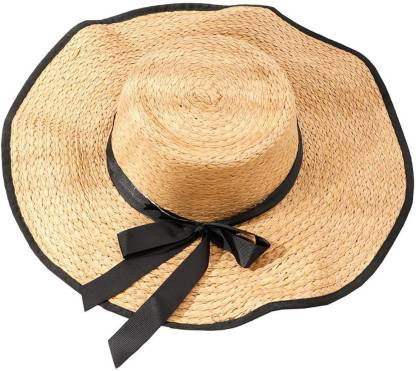 InOne Straw Hats  (Brown, Pack of 1)