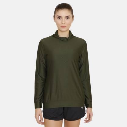 Zelocity by Zivame Full Sleeve Solid Women Sweatshirt