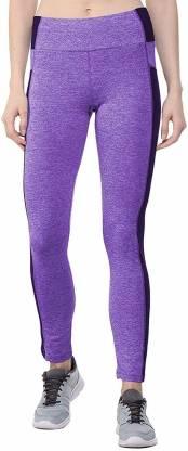 Chkokko Solid Women Purple Tights