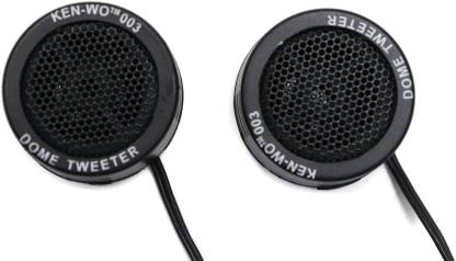 Electronic Spices Tweeter 1.5-inch 240 Watts Max Dome Tweeters with Mounting Kit Angle, BLACK, Surface Set of 2 Tweeter Car Speaker