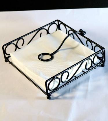 Worthy Shoppee Iron Napkin Holder For Dining Table Tissue Paper Stand Set Of 1 Napkin Rings Price In India Buy Worthy Shoppee Iron Napkin Holder For Dining Table Tissue Paper Stand