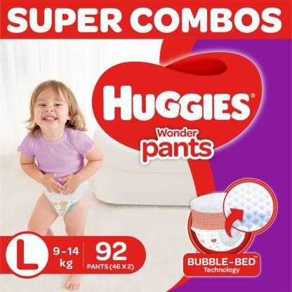Huggies Wonder Pants diapers -Combo pack - L