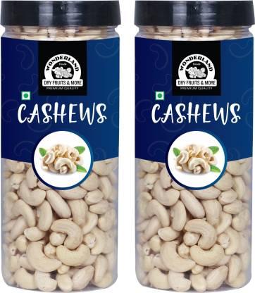 WONDERLAND Foods(Device) 100% Natural Premium Quality Plain Raw Cashews, 1Kg Pack of 2 (500g Each) Cashews