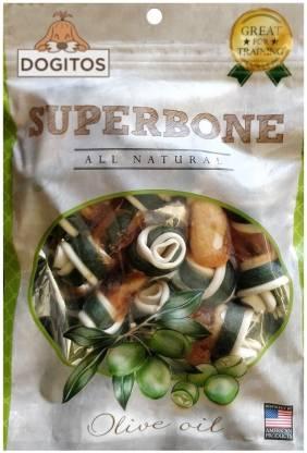 Dogitos Superbone Chicken Knotted Bone | 7 in 1 Olive Oil Dog Treat