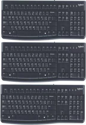 Logitech K120 WIERD KEYBOARD HINDI+ENGLISH Wired USB Multi-device Keyboard