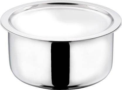 Vinod Cookware Platinum Triply Induction Friendly Stainless Steel Tope With Lid, 28 cm, 7.5 Ltr Tope with Lid 7.5 L capacity 28 cm diameter