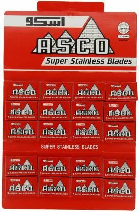 LORD RAZORS 100 ASCO Super Stainless Double Edge Safety Razor Blades [CAT_365
