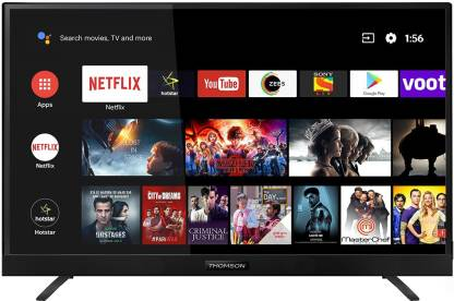Thomson 108cm (43 inch) Ultra HD (4K) LED Smart Android TV with In-built soundbar & Netflix