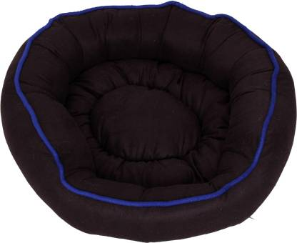 R.K Products DC BLK WITH BLUE LINNING M Pet Bed