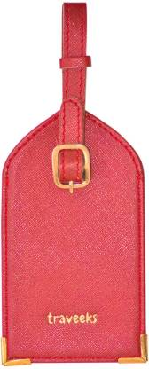 Traveeks Travel Luggage Tag PU for Suitcases and Bags with Owner Detail ID Card Luggage Tag