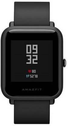 Huami Bip Lite On Smartwatch (Black Strap) Smartwatch(Black Strap, free)