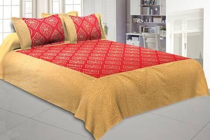 Jai Siya Ram Printers 144 TC Cotton Double King Abstract Bedsheet
