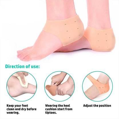 """APPJEN """"M SIZE"""" Anti heel crack set socks pain foot gel relief Heel Support Heel Support"""