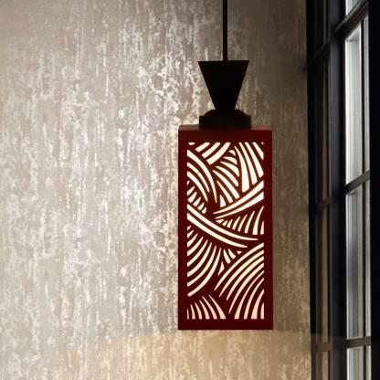 Zuper Wooden Hanging Lamp Style Hanging Lamp Creative Wood Pendant Light Lamp suitable for Living Room,Foyer,Bedroom,Hallway Pendants Ceiling Lamp