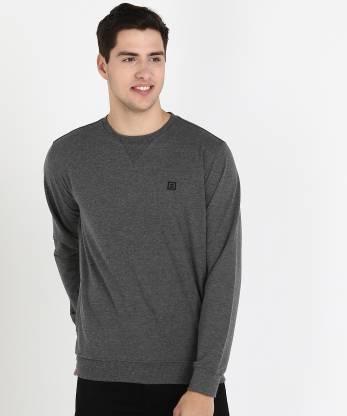 Billion Full Sleeve Solid Men Sweatshirt