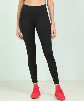 Nike Solid Women Black Tights