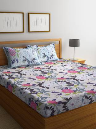 Bombay Dyeing 100 TC Cotton Double Floral Bedsheet