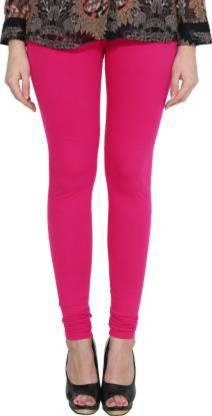 Clarita Churidar Legging(Pink, Solid)