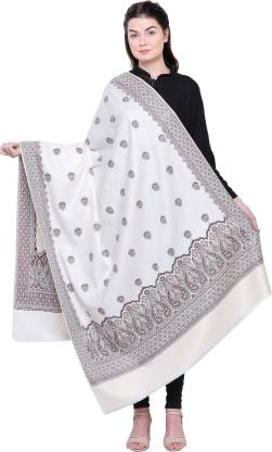 Royal Valley Pure Wool Applique Women Shawl