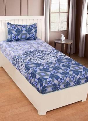 ZESTURE 100 TC Cotton Single Geometric Bedsheet