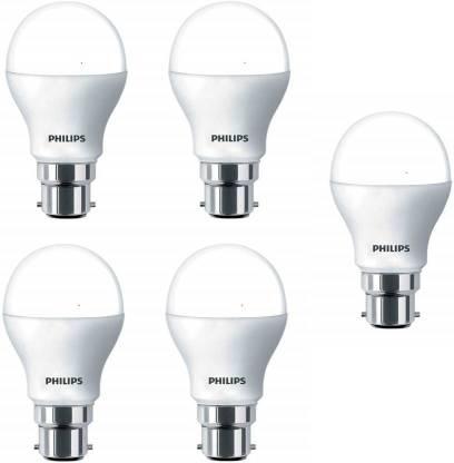 PHILIPS 8.5 W Round B22 LED Bulb