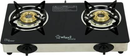 Sigri-wala Glass, Aluminium, Steel Automatic Gas Stove