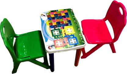 Surety for Safety Strong & Durable Kids Furniture Set Plastic Desk Chair