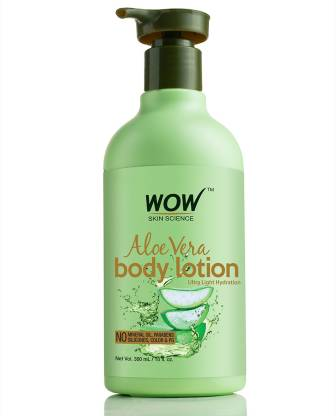 WOW SKIN SCIENCE Aloe Vera Body Lotion - Ultra Light Hydration - 300 mL