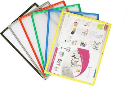 Infomate PP Magnetic Paper Holder - Set of 5 A4 size