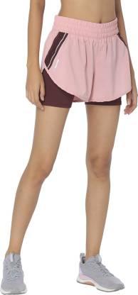 Solid Women Pink Running Shorts