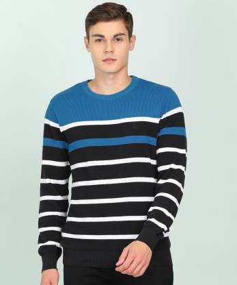 Parx Striped V Neck Casual Men Multicolor Sweater