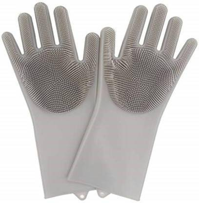 Kitchen India Best Silicone Gloves With Wash Scrubber Dish Washing Gloves Reusable Brush Silicone Wet And Dry Glove Price In India Buy Kitchen India Best Silicone Gloves With Wash
