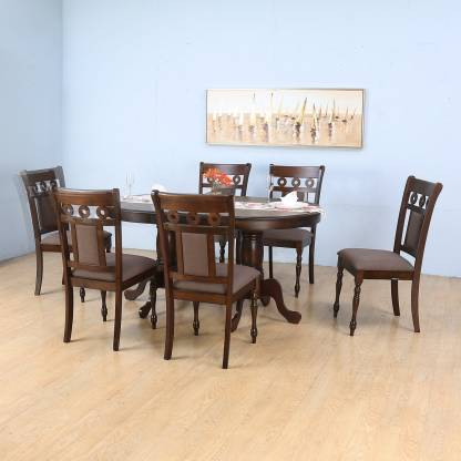 Nilkamal Woodway Engineered Wood 6 Seater Dining Set