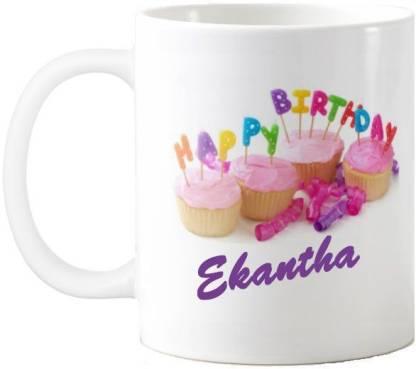 Exoctic Silver Ekantha Happy Birthday Quotes 74 Ceramic Coffee Mug