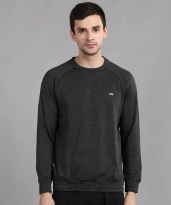 Full Sleeve Striped Men Sweatshirt