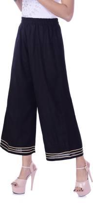 Pitanga Regular Fit Women Black Trousers