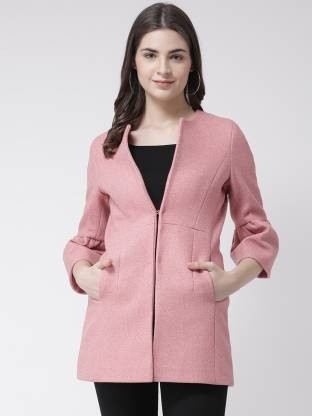 Solid Single Breasted Party Women 3/4 Sleeve Blazer(Pink)